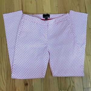 Cynthia Rowley Pink and White Cropped Pants Size 8